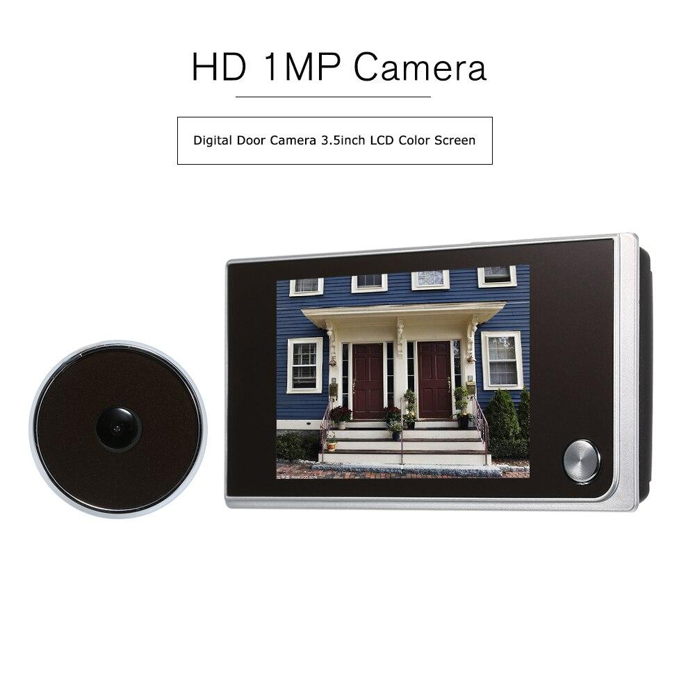 Дверной глазок 3,5 дюйма цветной экран с электронным дверным звонком светодиодный осветительный прибор для просмотра видео и видеосъемки|Дверной звонок| | АлиЭкспресс