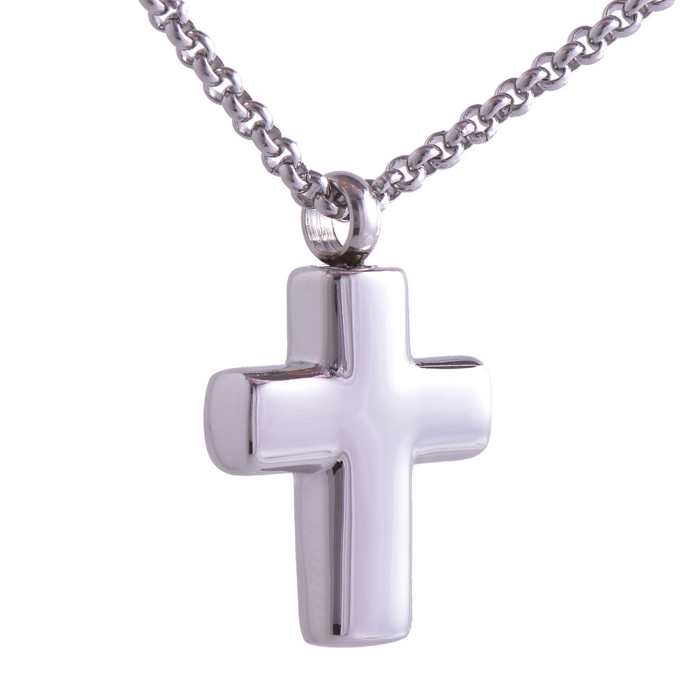 Buy 316l stainless steel cross cremation for Stainless steel jewelry necklace