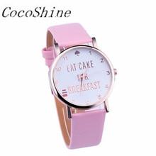 CocoShine A-733 Alta Qualidade Frete grátis & Atacado! moda Mulheres/menina/senhora Vogue de Couro Banda Quartzo Analógico Relógios de Pulso