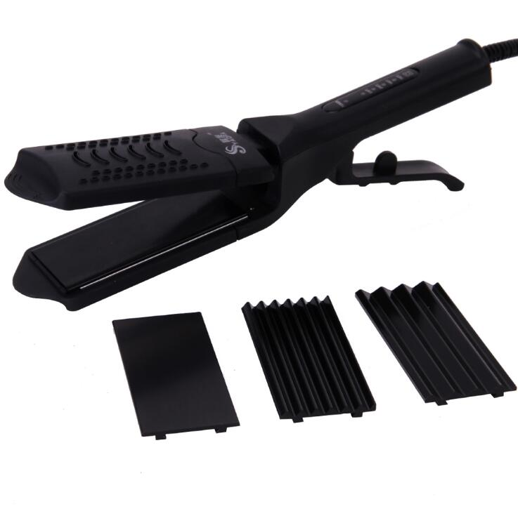 Professional Straightening Irons Curly Corn Hot Adjustable Tourmaline Ceramic Titanium Dry Wet Hair <font><b>25</b></font> Segments Widened image