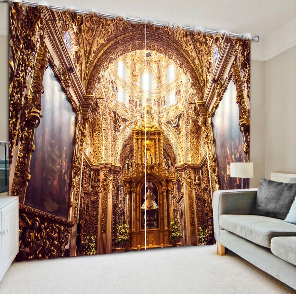85 38 53 De Réduction Moderne Décor à La Maison Vintage Rose Rideaux 3d  Rideaux Style Européen Architecture Belle Chambre Rideaux Dans