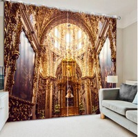 modern home decor vintage rose curtains 3d curtains European style architecture beautiful bedroom curtains