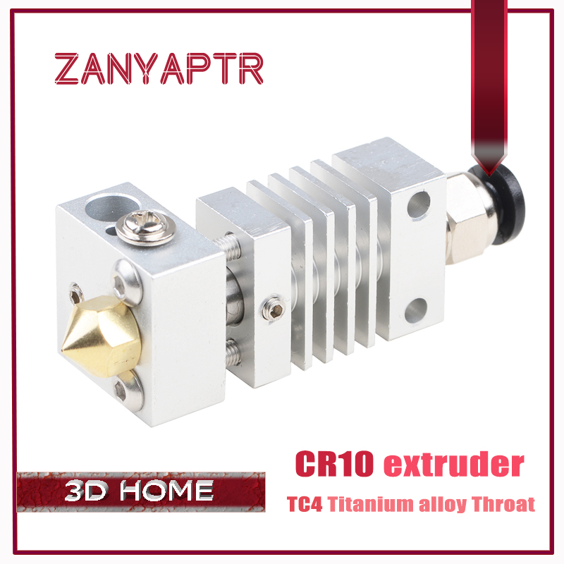 New CR10 Hotend Extruder Long distance Titanium Alloy Thermal Heat break Throat for Creality CR-10 3D Printer Micro Swiss
