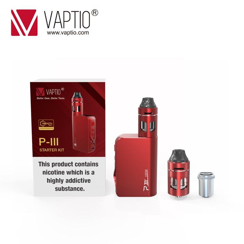 Original P3 Vaptio 100 W caixa mod Vape kit com 3000 mah Construído em VW/TC Bateria MOD Vaporizador kit 2.0 ml Atomizador de Enchimento Superior