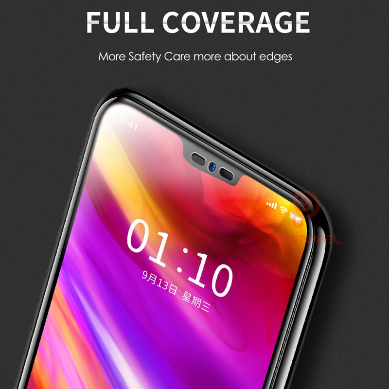 For LG G7 Screen Protector 5D Phenvel 9H Oleophobic Coat tempered Glass For LG G7 Thinq Full Cover Protective film in Phone Screen Protectors from Cellphones Telecommunications