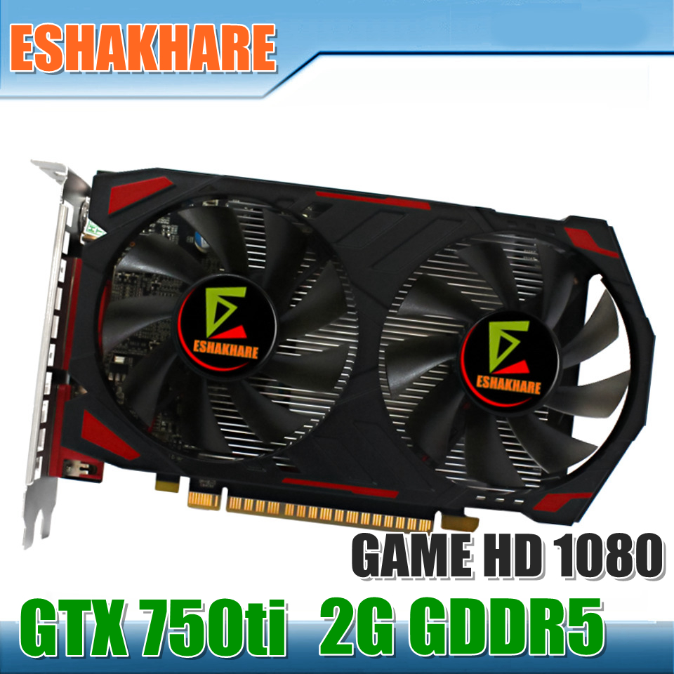New Geforce GTX 750Ti Video Card Game Graphics Card GDDR5 2G PCI Express Place De Video Card Support 1080 P Game Full Play