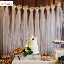 Free shipping on festive party supplies in home garden and more fengrise 100 yards tulle wedding backdrop wedding decoration 15cm tulle roll outdoor ceremony photography birthday party junglespirit Choice Image