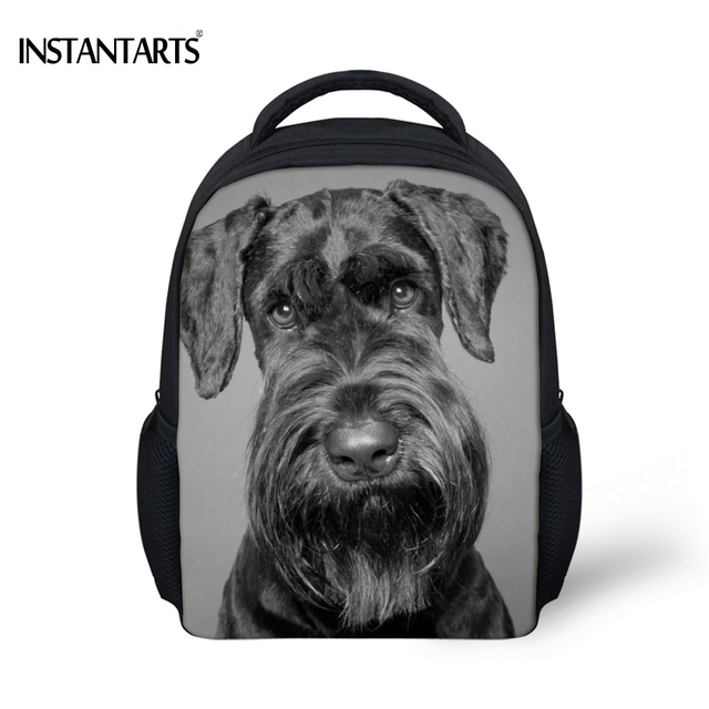 5b8d4cde4f INSTANTARTS Cute Dog Schnauzer Printed Boys Girls Mini School Bags  Kindergarten Students Bookbags Casual Children Baby Backpacks. 1 order