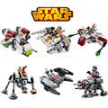 Bela 6pcs/lot Stars Wars MICROFIGHTERS Republic Gunship & ARC-170 Starfighter Building Blocks Model Toys Compatible With legoeIN