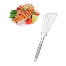 Нержавеющая сталь широкая жареная рыба лопатка для стейков Тернер щелевая скошенная кухонная утварь