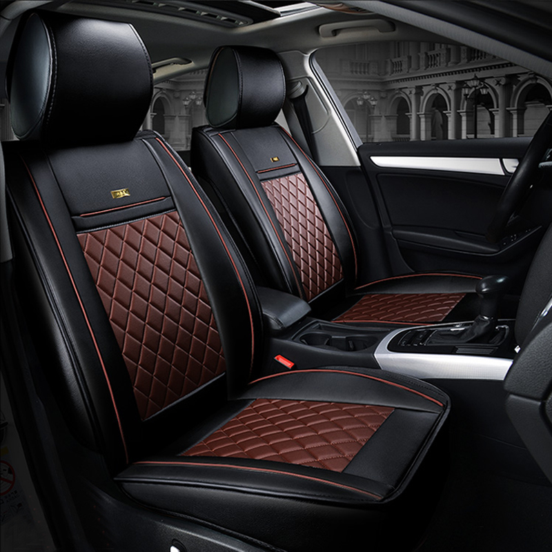 Front Rear Luxury Leather Car Seat Covers For Jeep