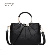 Luxury Handbags Women Bags Designer High Quality Leather Round Handle Solid Shoulder Bag Crossbody Bags For