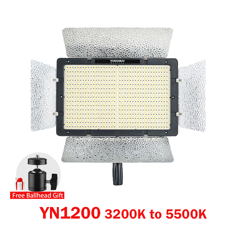 Ulanzi Yongnuo YN1200 Pro LED Video Light with 3200K to 5500K Adjustable Color Temprature for Canon Nikon SLR Camera Camcorders