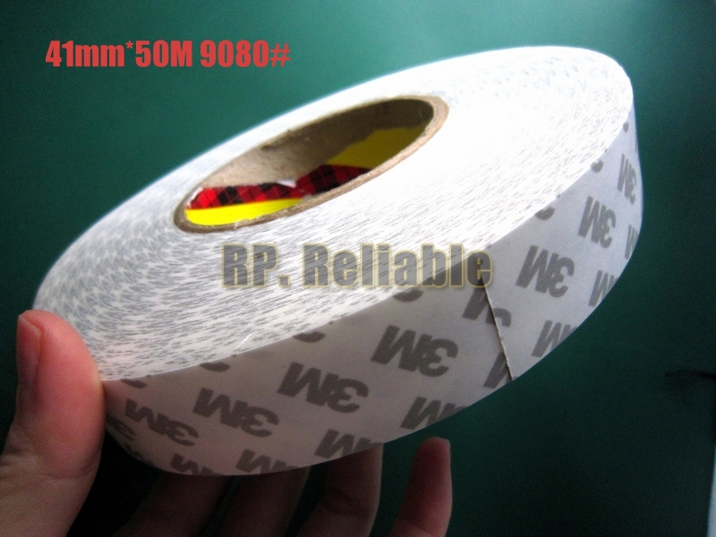 1x 41mm *50M 3M9080 Widely Using Two Sides Adhesive Tape, High Performance Transfer Tape 1x 42mm 50m 3m9080 widely using 2 sides adhesive tape for dvd tv pda auto front panel screen led strip joint