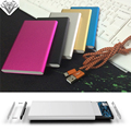 Alta Qualidade Super Slim polymer Power Bank 6000 mah Bateria Externa de Backup Powerbank carregador portátil para todos os telefones móveis