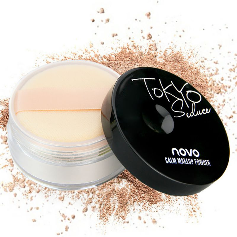 Hot Face Powder Smooth Loose Powder Makeup Transparent Finishing Powder Waterproof Face With Puff