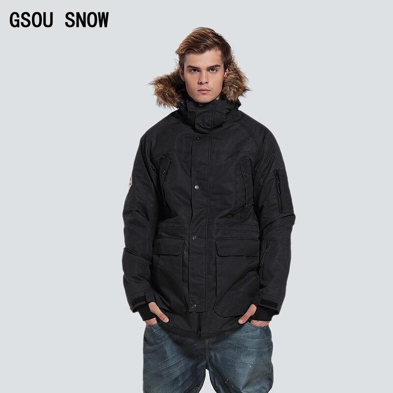Gsou Snow téli sí snowboard kabát férfi szigetelt hó ruha fekete - Sportruházat és sportolási kiegészítők