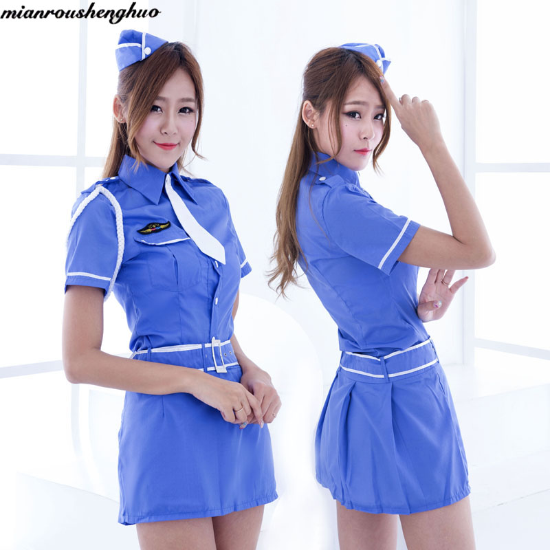 Taste uniform temptation Cosplay game stewardess uniform policewomen uniform # 5014