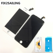 100% Grade AAA LCD Display Touch Screen Digitizer Assembly Replacement For Apple iPhone 6 6G With Tempered Glass
