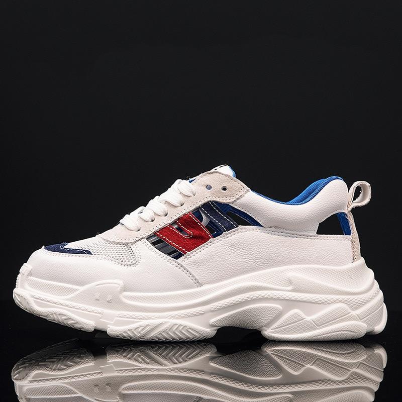 Del Gruesos Hueco Fire Zapatos Sandalias Las naranja Verano Viejos 0018 rojo Azul Zapatillas Respirables Harajuku Super De pwUd0x