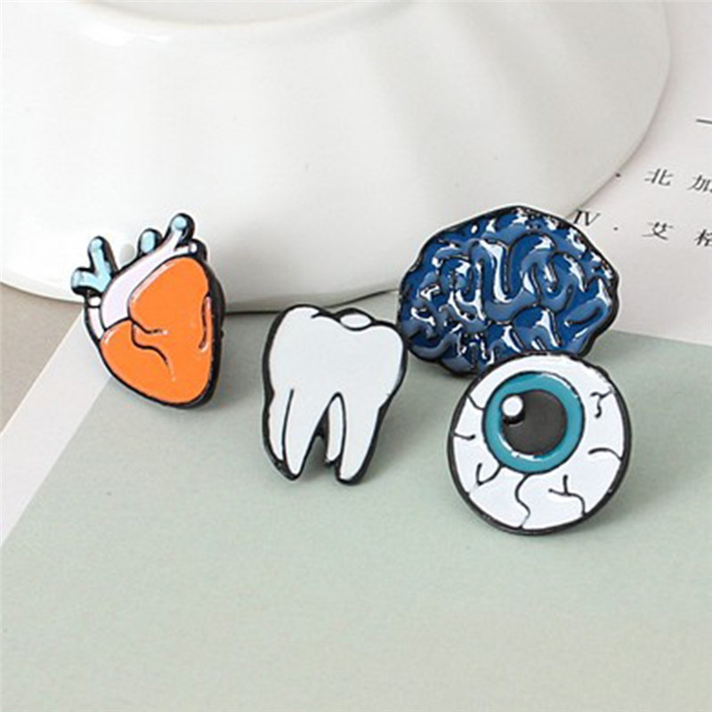 Cute Creative Lovely Collar Pin Badge Corsage Cartoon organs Brooch Women Men Children Jewelry Accessories