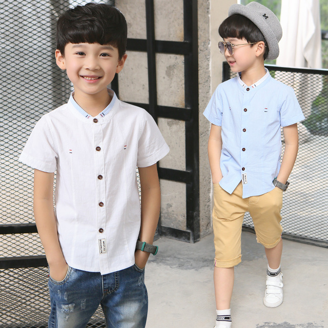 57fd9b0aae750b Kinderkleidung jungen kurzarm-shirt 2017 neue kindermode casual  baumwollhemd junge sommer Koreanische hemd