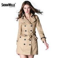 Skinnwille 2018 Новый Ветровка Женские плащи весна пальто весна женская куртка пальто для женщин основные пальто