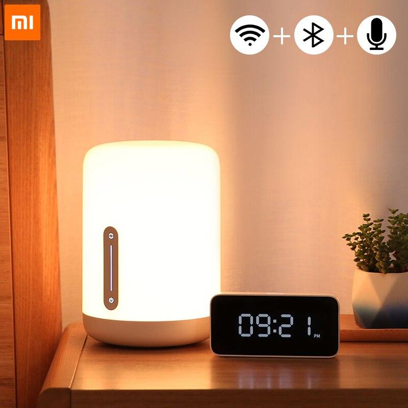 Xiaomi Mijia ночники 2 Smart Светодиодный настольный светодиодный ночник RGB Красочные Bluetooth Wi Fi Touch Управление работает с Apple HomeKit Siri