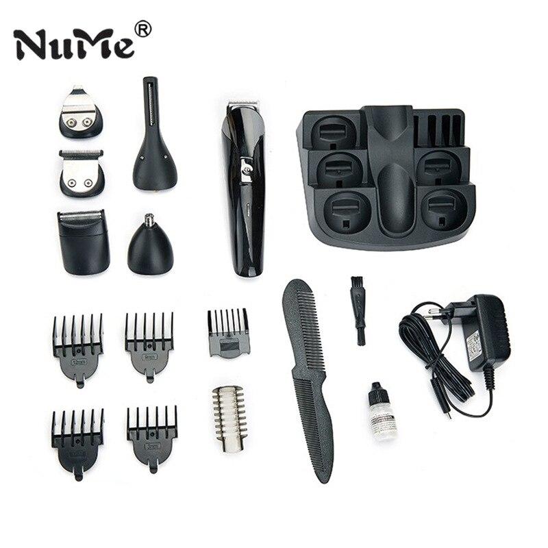 HOT électrique tondeuse à cheveux 7 IN1 tondeuse à barbe définit tondeuses hommes professionnel cheveux rasoir barbe outil de mise en forme - 6