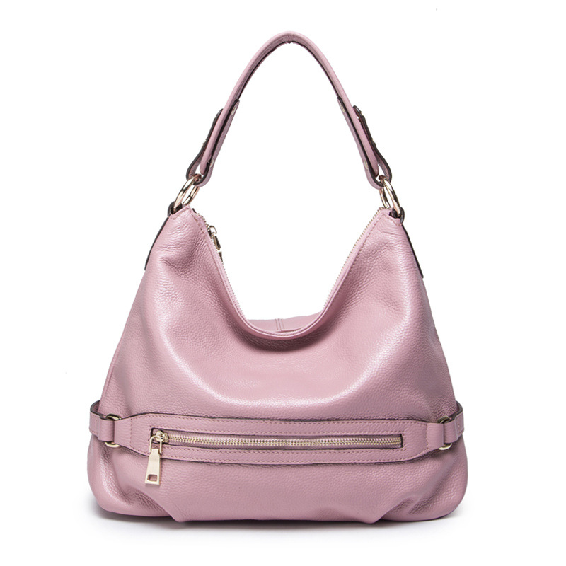 light pink En Red Dames De Véritable Épaule Bandoulière Sacs wine Purple Mode Grand Sac Black Grande Purple Messager Capacité New dark Occasionnel Femmes Cuir Seau brown Main À wnBxSpIq