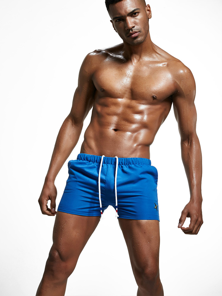 Mens Beach Swim Trunks Bunny Rabbit Heart Tree Boxer Swimsuit Underwear Board Shorts with Pocket