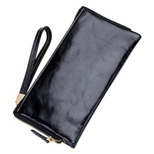 The First Layer of Oil Wax Dollar Wallet Multi Card Holder Leather Purse Men Lady's Wallets For Money Cell Phone Passport Coin