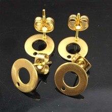 100 Stks/partij Sieraden Componenten Gold Kleur Bevindingen Dangle Oorbellen Pin Cup Pit Stud Oorbel Basis Diy Maken Oorstekers Hoofd pins