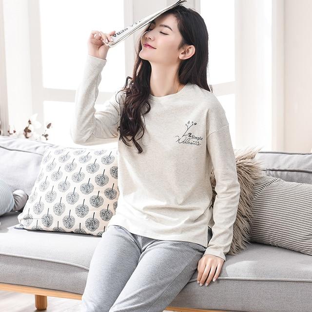 New Autumn And Winter Women Long-sleeve Cotton Sleep Pajama Sets Female  Nightwear Lady Floral Pyjamas Teenage Pijamas Sleepwear c1169db4b