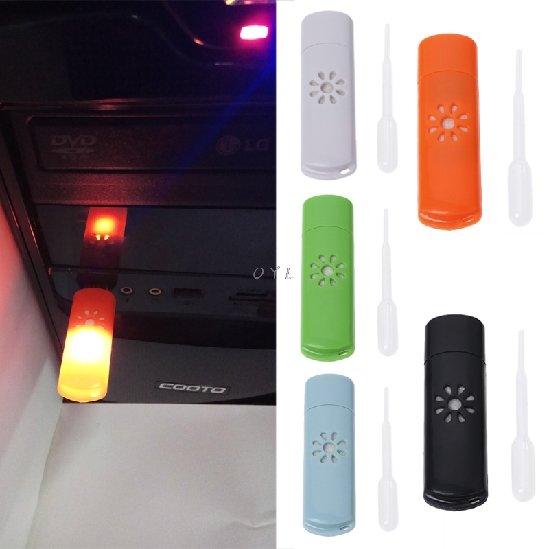 Mini USB Car Aromatherapy Diffuser Aroma Humidifier Essential Oil Fresh Home New Air Conditioning