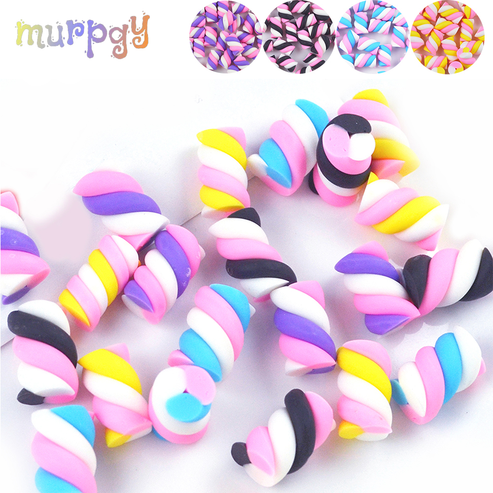 5Pcs/Bag Cotton Candy Filler For Fluffy Slime Supplies Lizun Accessories Charms Gift For Slime DIY Kit Plasticine Toys For Kids