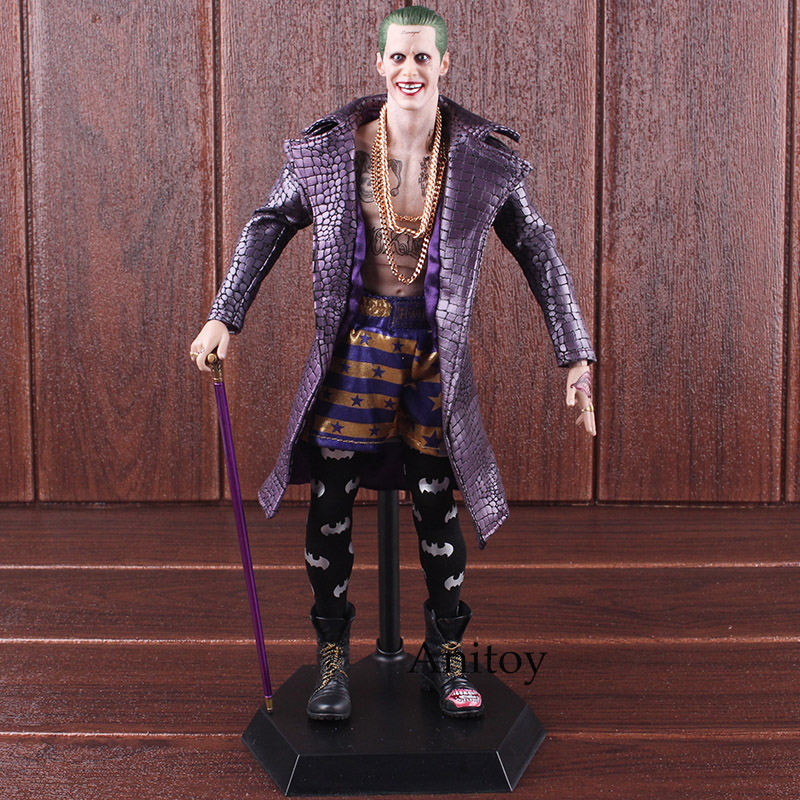 все цены на Crazy Toys The Joker Batman Figure Crazy Toys Joker Toy Imposter Version 1/6th Scale PVC Collectible Figure Toy 31cm онлайн