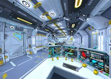Tema do espaço nave espacial luz parede de Vinil pano de fundo pano de Alta qualidade de impressão Computador Fotografia Fundos