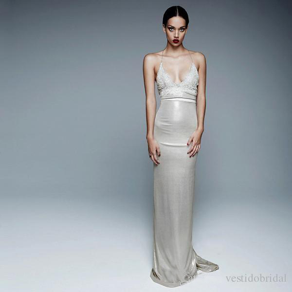Custom Made Black Silver Evening Dress Halter Sexy Backless Prom ...