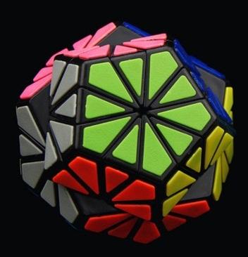 QJ Pyraminx de baldosas de Cristal Cubo Mágico Blanco Y Negro