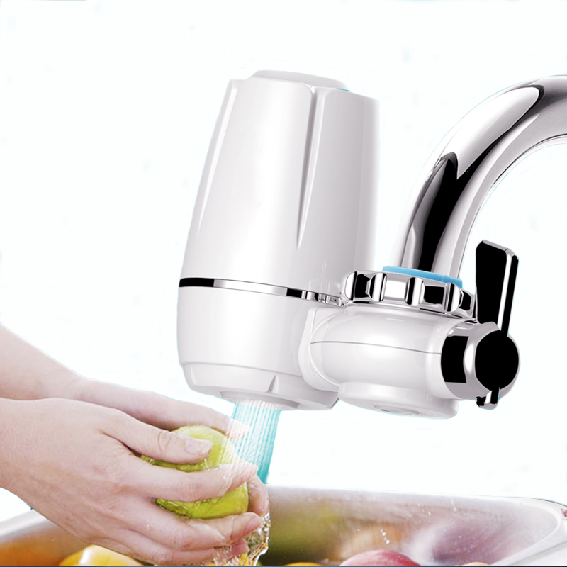 Mini Tap Wasserfilter Küche Wasserhahn Waschbar Keramik Percolator Wasser Filter Filtro Rost Bakterien Entfernung Ersatz Filter