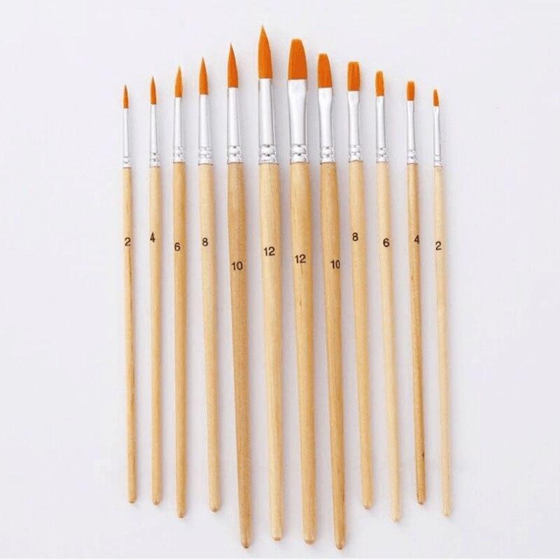 12Pcs Paintbrush Different Size 1