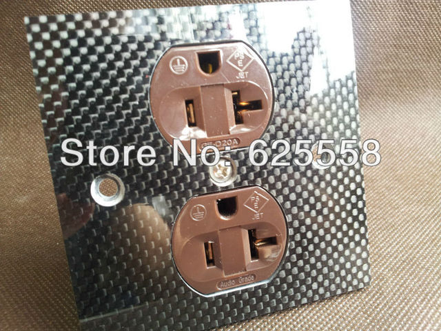 Gaofei US AC 20A power Receptacles red copper gold plated carbon ...