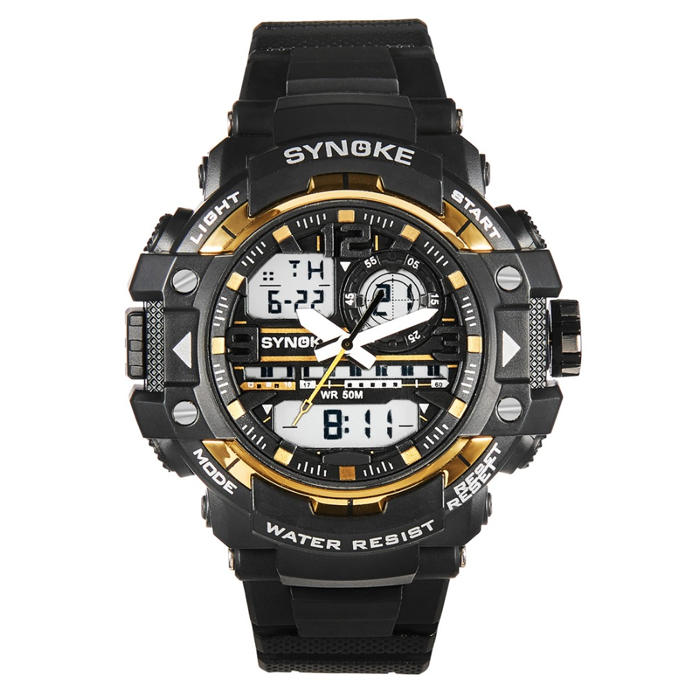 Outdoor Sport Men Watch New Quartz Digital Wrist Watches Dual Display Alarm Chrono 50M Waterproof Clock Gift Male Timer drop shipping gift boys girls students time clock electronic digital lcd wrist sport watch july12