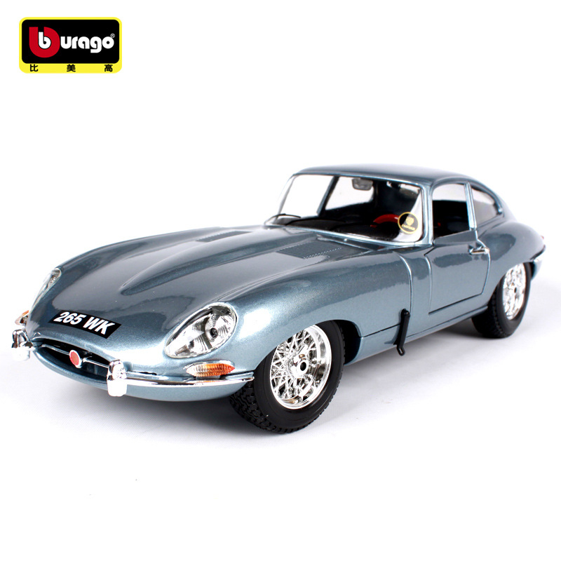 1 18 Simulation alloy sports car model Toy For Jaguaredal E type Steering wheel control front