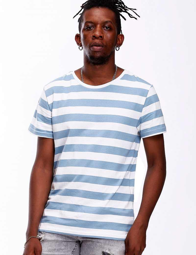 6ab9c8cb988b55 ... Striped Shirt for Men Stripe T Shirt Male Top Tees Navy Russian Shirt  Even Basic Wide ...