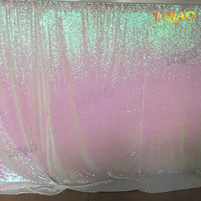 8ftx8ft Changed White Sequin Backdrop Photography BackgroundWedding Photo Booth Shimmer Curtain Decoration