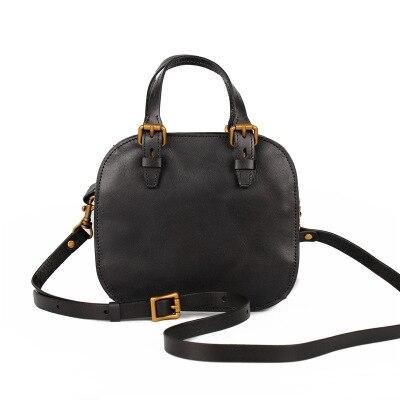 Femmes mignon en cuir véritable petit fourre-tout sac à main femme nouveauté vintage un sac à bandoulière été vert marron messenger sac à bandoulière - 6