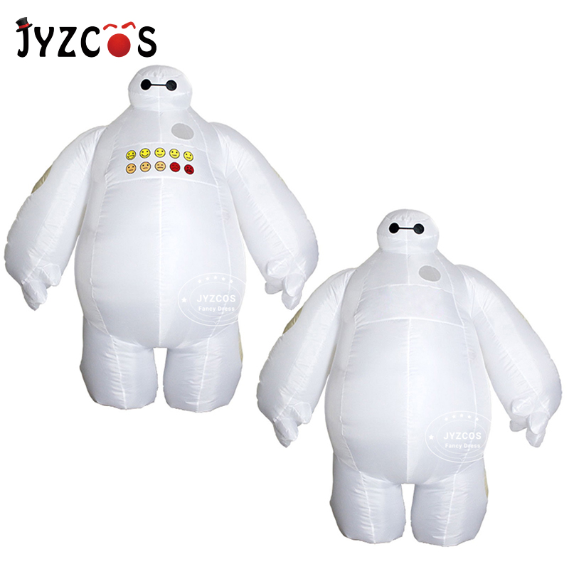 JYZCOS Baymax Inflatable Costume Big Hero 6 Mascot Costume Halloween Costume for Women Man Adult Purim Party Cosplay Costume