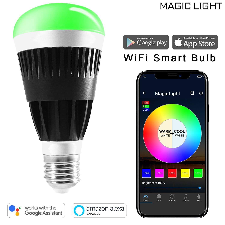 Lumière LED WiFi ampoule E27 80 w équivalent Dimmable changement de couleur lampe Homekit Compatible avec Alexa Google accueil Assistant